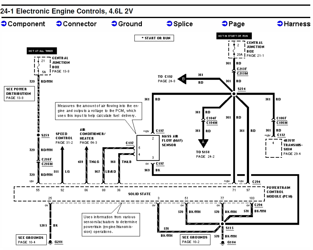 Below are the wiring diagrams for the Fuel pump system. Click on the image  for the full size picture.